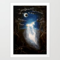 the last unicorn Art Prints featuring Last unicorn by Zuzana Ondrejkova