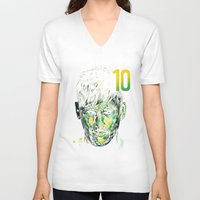 neymar V-neck T-shirts featuring NEYMAR JR by dan elijah g. fajardo