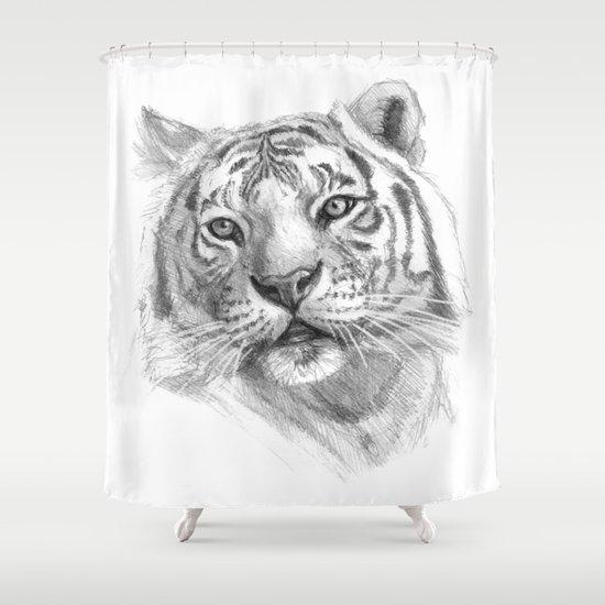 Sentimental Tiger SK118 Shower Curtain