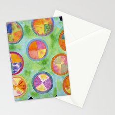 Mixed Colorful Colors in Circles Stationery Cards