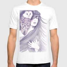 Sorceress MEDIUM White Mens Fitted Tee
