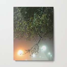 The Fog Of Gold And Silver Metal Print
