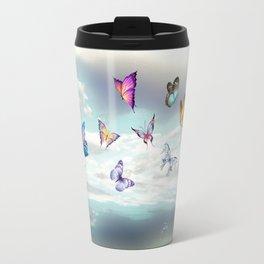 Butterflies over water Travel Mug