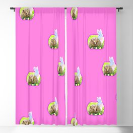 Easter hedghog Blackout Curtain