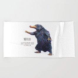 Niffler art Fantastic Beasts Beach Towel