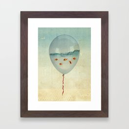 Balloon Fish Framed Art Print