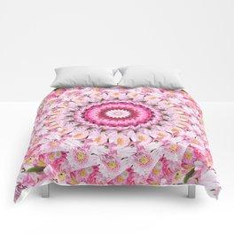 Bloom Bright Flower Photography Flat Lay Comforters
