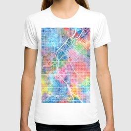 denver map watercolor T-shirt