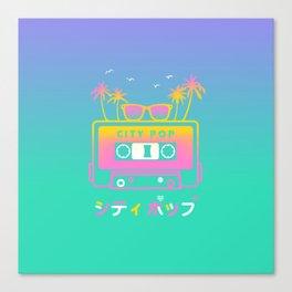 City Pop Summer theme Canvas Print
