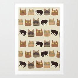 KittyKey Art Print