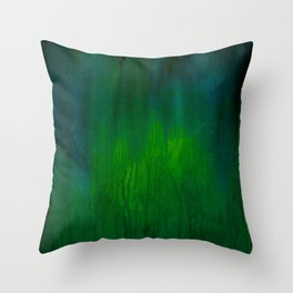 Green Abstract Throw Pillow