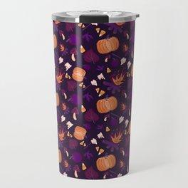 Floaty Fall On Violet Travel Mug