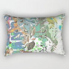 Bird Grid Paste Up 2 Rectangular Pillow