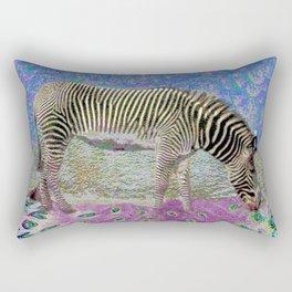 Dusty Zebra Dreams Rectangular Pillow