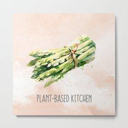 Plant-Based Kitchen Asparagus Metal Print