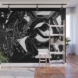 Space Station Girl Wall Mural