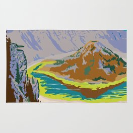 National Parks 2050: Crater Lake Rug
