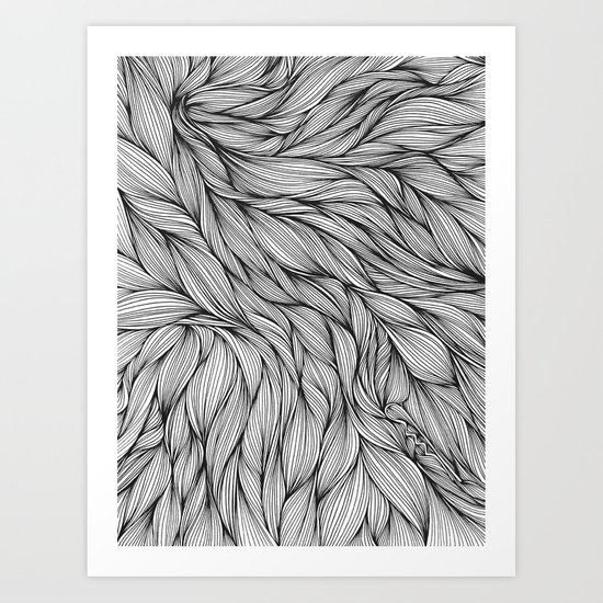 Pin in a Hairstack Art Print