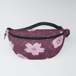 Sakura blossom - burgundy Fanny Pack