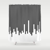 cityscape Shower Curtains featuring Cityscape by The Blonde Dutch Girl