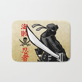 Debate Over: Pirates vs. Ninjas Bath Mat