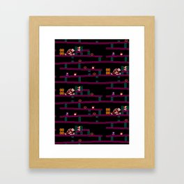 Donkey Kong Retro Arcade Gaming Design Framed Art Print