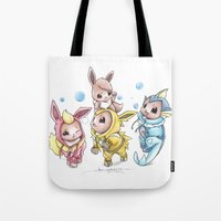 projectrocket Tote Bags featuring Bursting Bubbles by Randy C