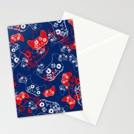 Video Game Red White & Blue 2 Stationery Cards