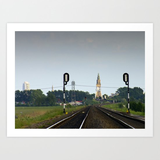 Railwaystation Martini Art Print
