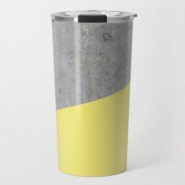 Concrete and Yellow Color Travel Mug