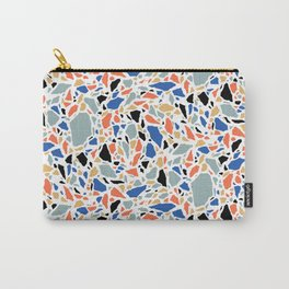 Terrazzo pattern in blue and salmon Carry-All Pouch