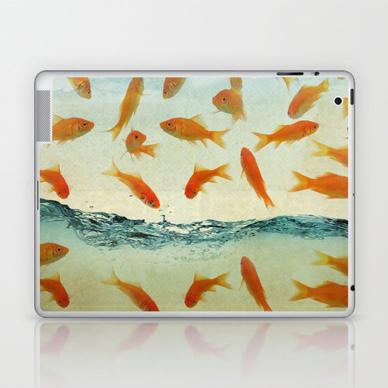 raining gold fish Laptop & iPad Skin