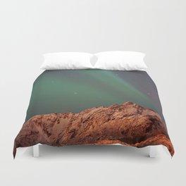Mountains Landscape: Northern Lights - Aurora Duvet Cover
