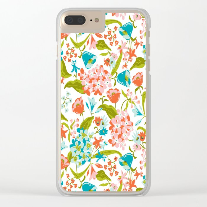 Amilee White Clear iPhone Case