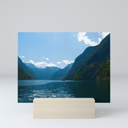 Koenigssee Lake with Alpes Mini Art Print