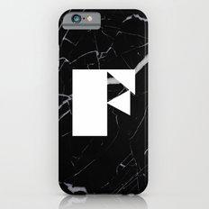 Black Marble - Alphabet F Slim Case iPhone 6s