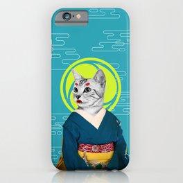 Geisha Cat iPhone Case