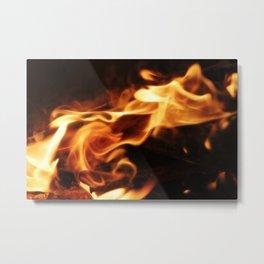 Flames Metal Print