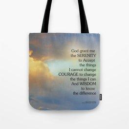 Serenity Prayer Golden Cloud Tote Bag