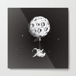 Hot Moon Balloon Metal Print