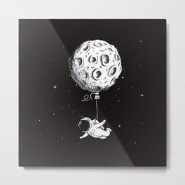 Hot Moon Balloon Metal Print