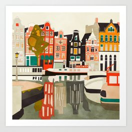shapes houses of Amsterdam Art Print