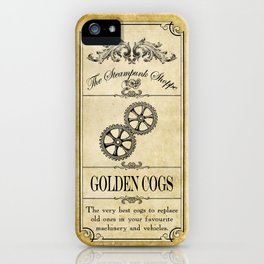 Steampunk Apothecary Shoppe - Cogs iPhone Case