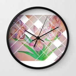 Iris in Gold Wall Clock