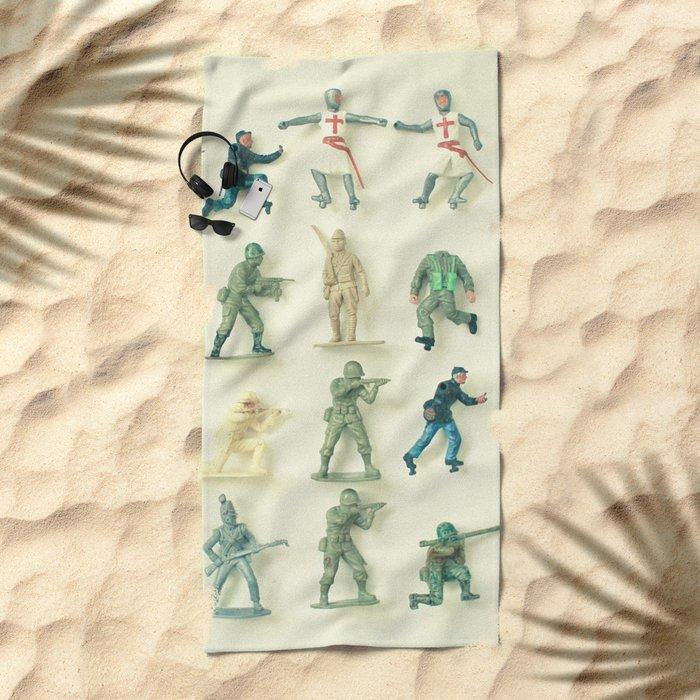 Broken Army Beach Towel