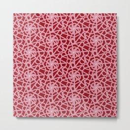 Candy cane flower pattern 1a Metal Print