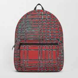 Left - Red and turquoise Backpack