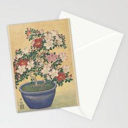 Blooming azalea in blue pot - Ohara Koson (1920 - 1930) Stationery Cards