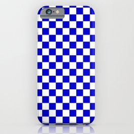 Blue and White Check - more colors iPhone Case
