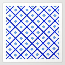 Classic Blue & White Pattern Art Print